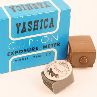 Yashica clip-on light meter