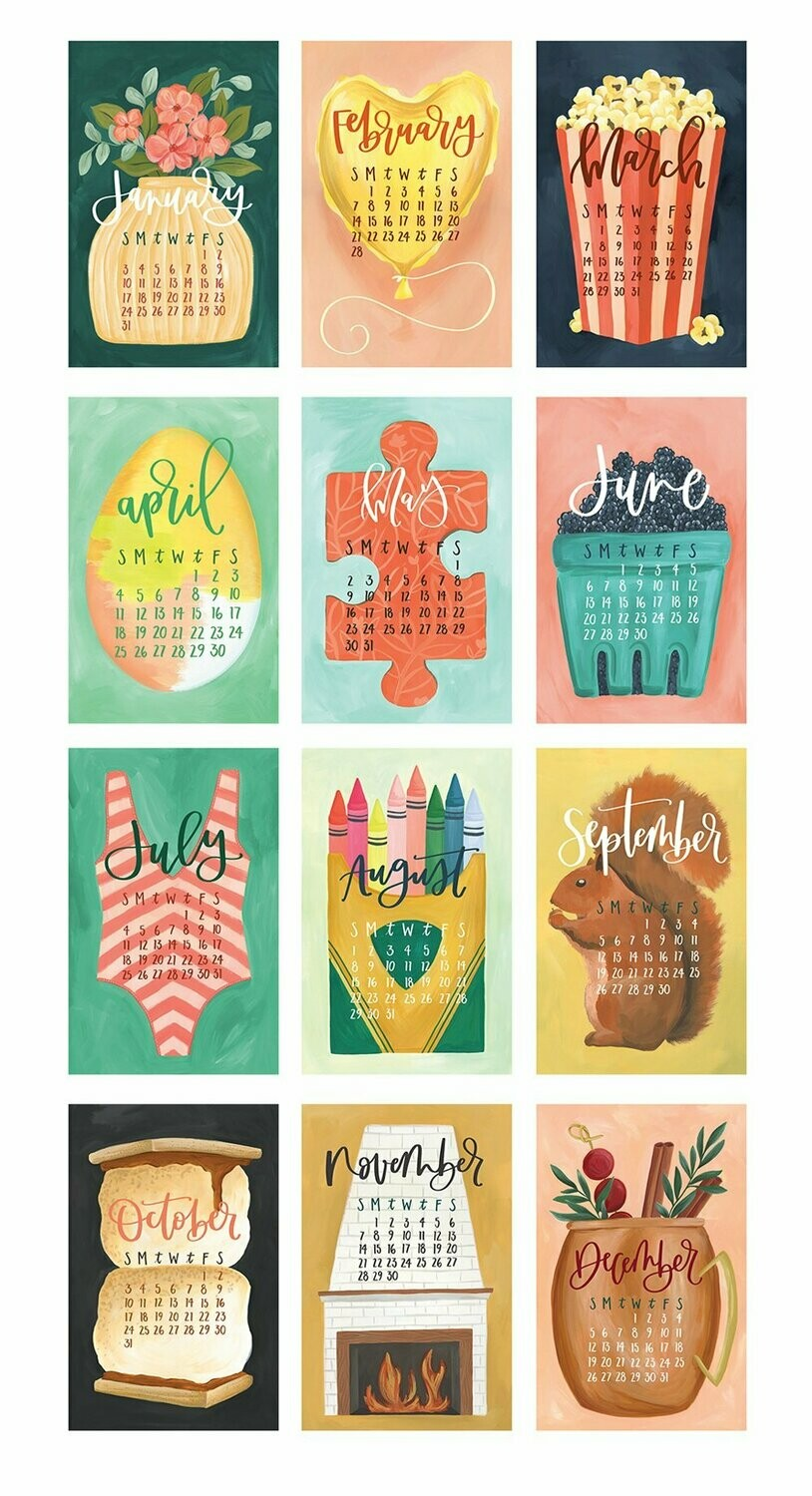 XL Wall Calendar: Gather w/ hanger