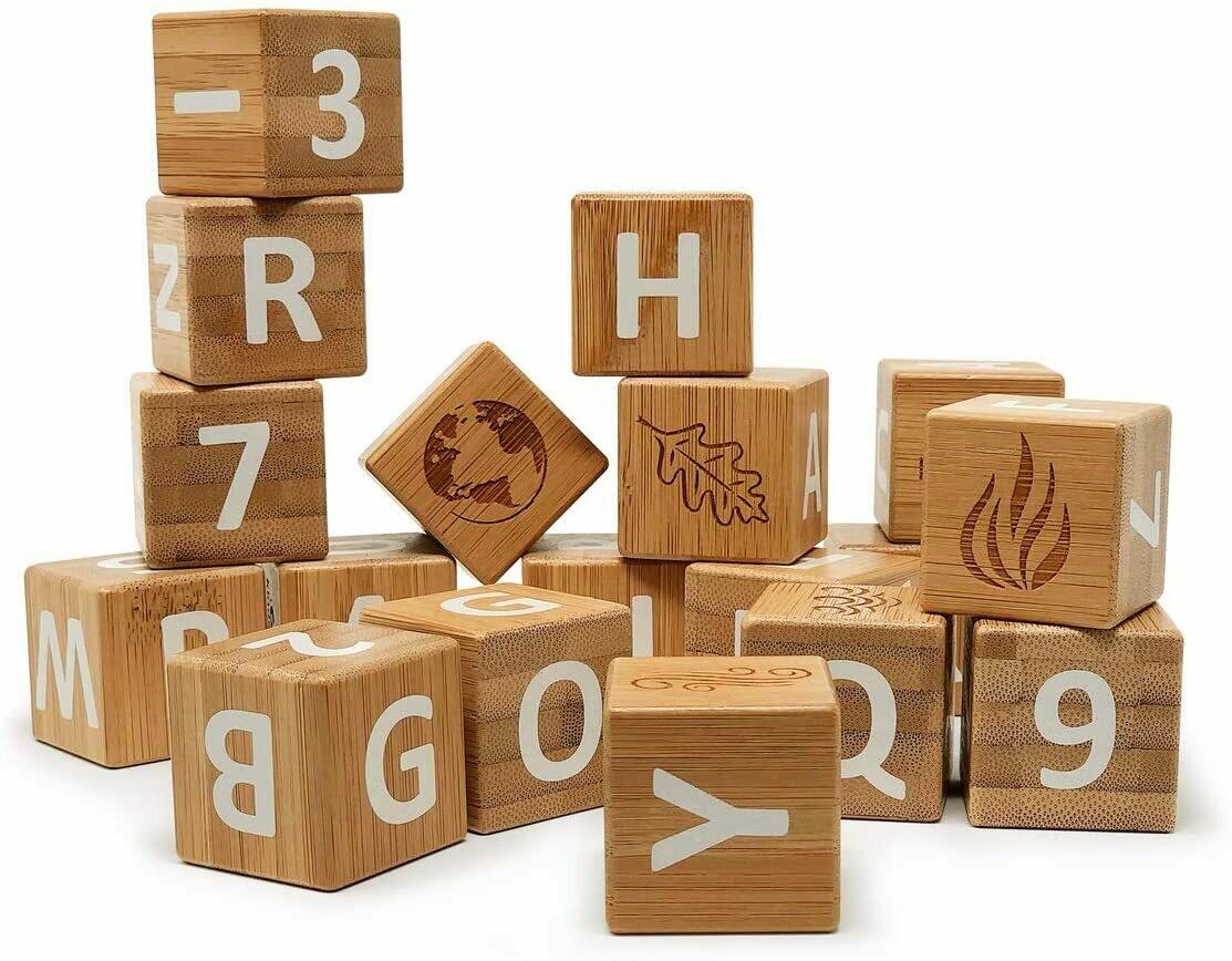 ABC Blocks - Bamboo