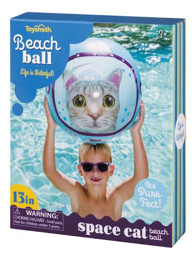 BEACH BALL SPACE CAT