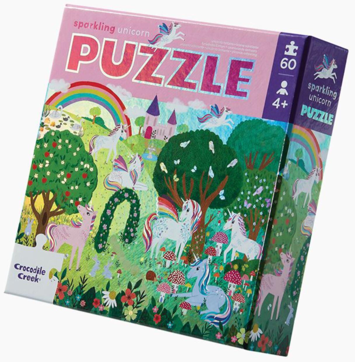 60pc Foil Puzzle/Sparkling Unicorn