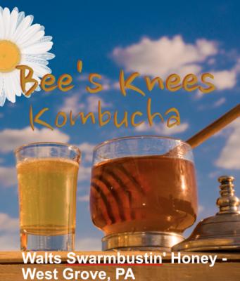 Growler of Bee's Knees Kombucha 64oz  - Local honey & chamomile