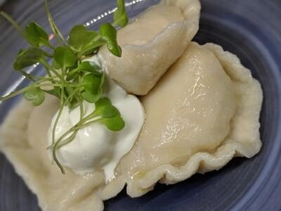 Grandma's Cuisine Authentic Polish Pierogi Sauerkraut Vegan 16oz (frozen)