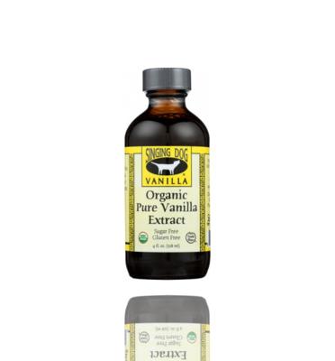 Singing Dog Organic Pure Vanilla Extract, 4 oz