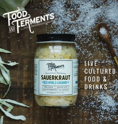 Food and Ferments Old World Caraway Kraut 15.5oz