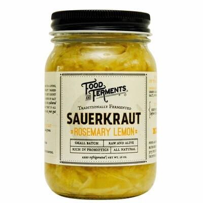Food and Ferments Rosemary Lemon Sauerkraut 15.5oz
