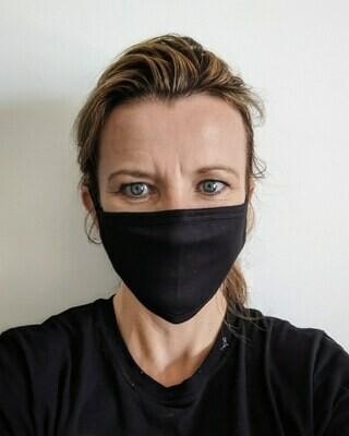 Reusable cut & sewn fabric mask