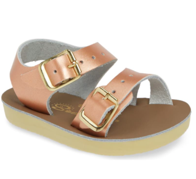 'Sea Wees' Salt Water Sandals - Rose Gold