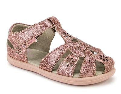 Pedi Ped - Nikki Rose Gold Leather Sandals