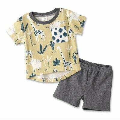 Tesa Babe Set - Yellow & Grey Elephants