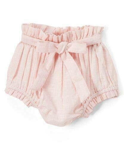 Yo Baby Bloomer Diaper Cover - Light Pink with Tie