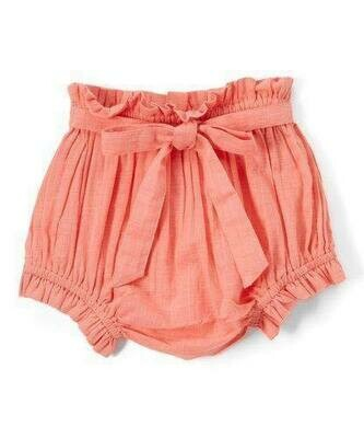 Yo Baby Bloomer Diaper Cover - Coral with Tie