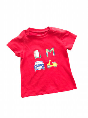 Mayoral Tee - Red with Letters