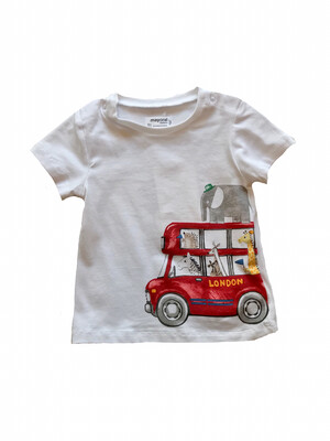 Mayoral Tee - White with Bus
