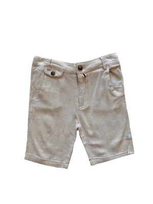 Fore!!! Linen Shorts - Beige