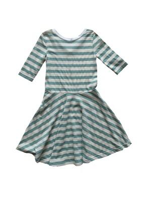 Vignette Dress - Blue & White Stripes