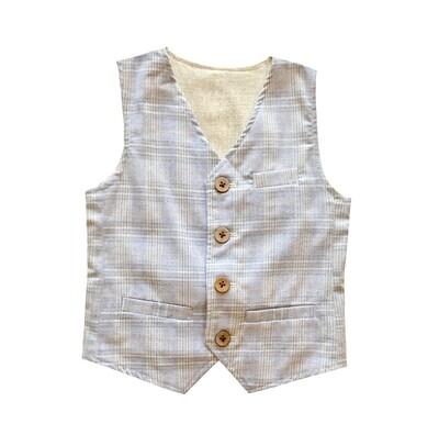 Fore!!! Reversible Vest - Blue/Beige