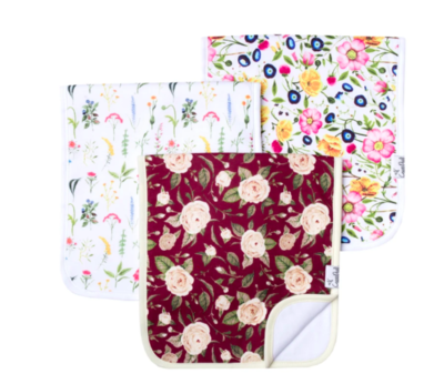 Copper Pearl Baby Burp Cloths Pack of 3 - Scarlet