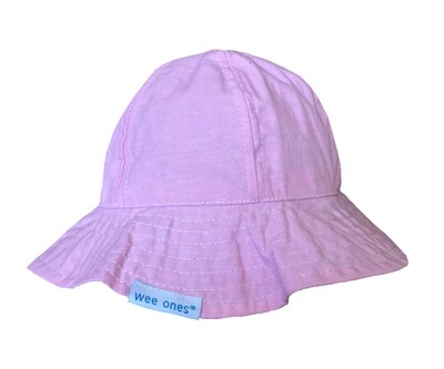 Wee Ones Reversible Pink Sunhat (Velcro Strap)