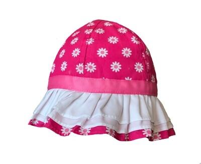 Wee Ones Pink Flowers Sunhat (Tie Strap) Sun Hat