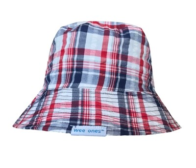 Wee Ones Plaid Bucket Hat