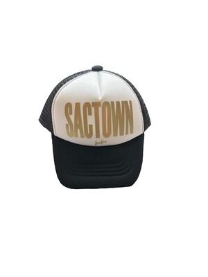 "Bubu ""Sactown"" Trucker Hat - Black & White"