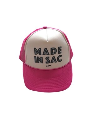 "Bubu ""Made in Sac"" Trucker Hat - Pink"