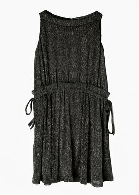 Isobella & Chloe - Girls Grey Shimmer Dress