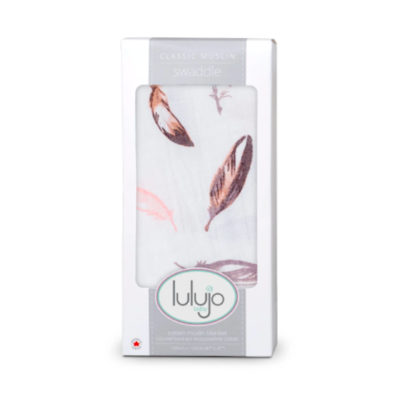 Lulujo Putty Feathers Swaddle