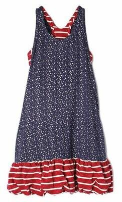 Isobella & Chloe Dress - Red, White, & Blue Stars