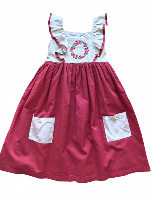 Little Prim Millie Cotton Smocked/Embroidered Dress