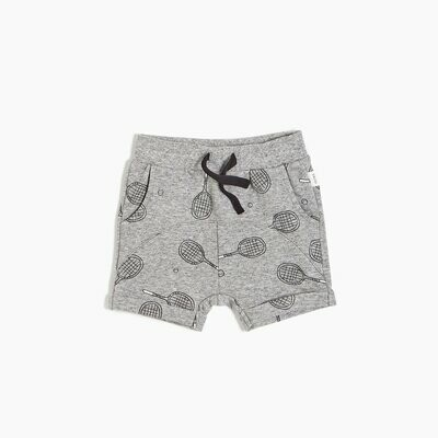 Miles Shorts - Grey with Racquets