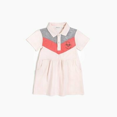 Miles 'Racquet Club' Polo Dress - Pink