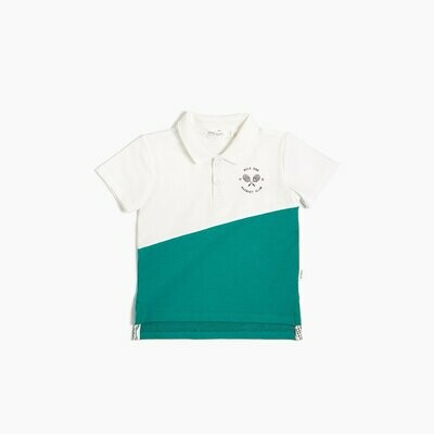 Miles 'Racquet Club' Polo - White and Green