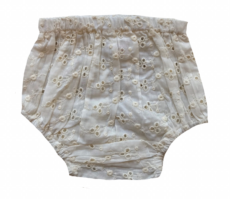 Yo Baby Bloomer Diaper Cover - Cream Eyelet