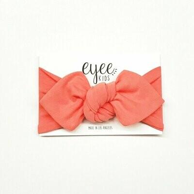 Eyee Top Knot Headband - Coral