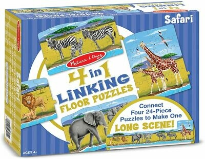 Melissa & Doug Safari 4-in-1 Jumbo Linking Jigsaw Floor Puzzle