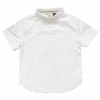 Fore!!! Short-Sleeve Button-Up - White