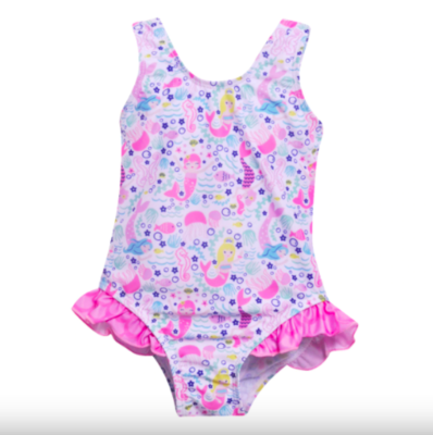 Flap Happy UPF 50+ Delaney Hip Ruffle Swimsuit | Malibu Mermaid