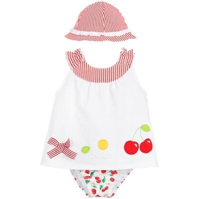 Mayoral Baby Swimsuit Set - Cherry