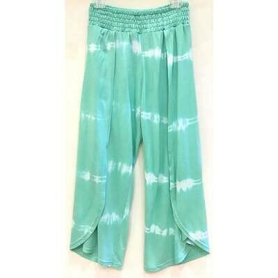 Joyous & Free Flowy Aqua Pants