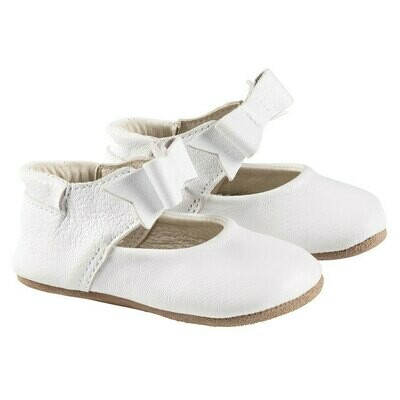 Robeez Leather Moccasin - Sofia White Mary Jane