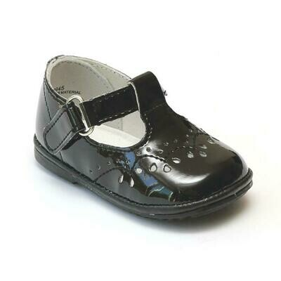 Angel Baby Shoes Patent Black Mary Jane