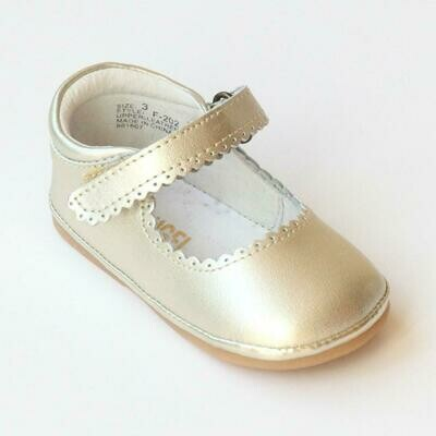 Angel Baby Shoes Gold Mary Jane