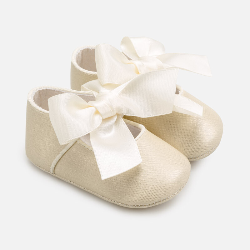 Mayoral Baby Shoes Gold Ribbon Mary Janes