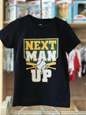 """Next Man Up"" (A's) Black Tee"