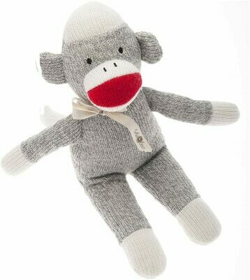 Beba Bean Sock Monkey Rattle Toy