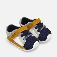 Mayoral Baby Shoes - Navy & Mustard