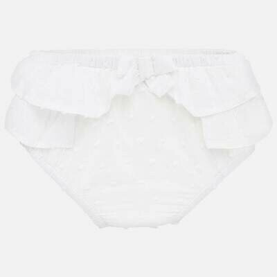Mayoral Bloomers - White Ruffles