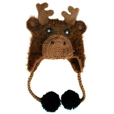 Huggalugs Silly Moose Knit Beanie